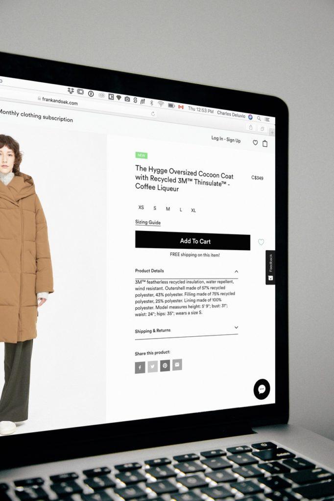 Laptop płaszcz zakupy online