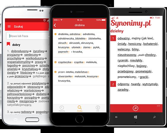 telefony z widoczną stroną synonimy.pl